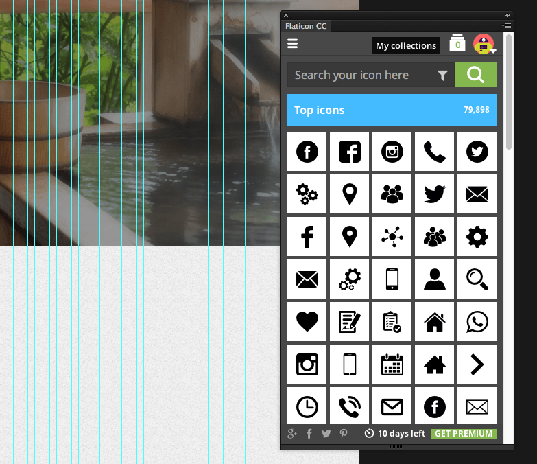 photoshopでアイコンを使いこなすプラグイン「flaticon photoshop」
