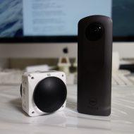 360度VRカメラ「THETA V」と 「4KVR360」の写真&動画の画質比較です。